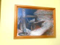 Tóvári Tóth István (Öreg pad), farostra festve, 70 x 50 cm