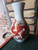 Wallendorf sárkányos váza 21 cm