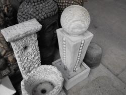 Ritka Modern gömb Szökőkút Kő szobor és csobogó egyben Minőségi  műkő szökő kút