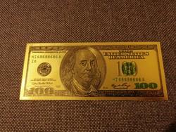 USA dollár, arany bevonattal