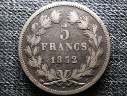 Franciaország I. Lajos Fülöp (1830-1848) ezüst 5 frank 1832 T (id44339)