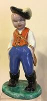 Komlós kerámia fiú,23 cm magas,hibátlan