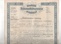 Életbiztosítási kötvény 1930