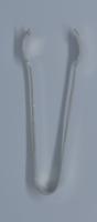 Magyar ezüst art deco cukorcsipesz