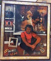 """80-as évek retro hangulata """"Zenét hallgató srác"""", szignózott nagy méretű kép!"""