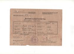 Sorozási-nyilvántartási lap 1944