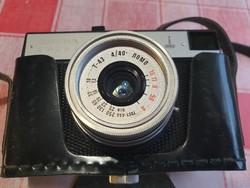 Smena 8 fényképezőgép - LOMO T43 objektívvel, eredeti bőrtokban eladó!