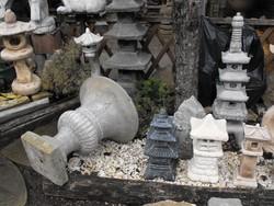 Hatalmas 80cm Kastély kehely virágtartó kő beton váza teraszra balkonra