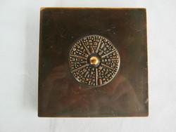 Kopcsányi Ottó iparművész réz vagy bronz doboz