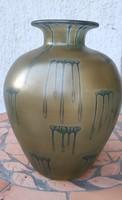 Antik fúvott üveg,Loetz, Kralik.. jellegű gyönyörű üveg váza! Irrizáló.