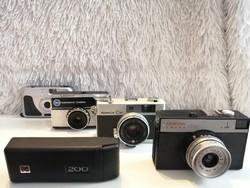 Régi típusú fényképezőgépek (KODAK,KONICA,SMENA,35 MM)