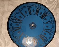 Óra számlap, zomànc, tűzzománc falióra,asztali óra kék zomànc.Elemes,kvarc szerkezet, komplett óra