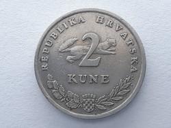 Horvátország 2 kuna 1993 - Horvát (Croatia) 2 kuna érme