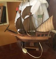 HAJÓMODELL -fából-SANTA MARIA-Kolumbusz hajója-1969-ben készült