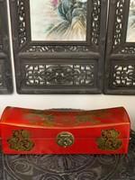 Rendkívüli ajánlat! Kínai tradiconális, sárkányos festett párna doboz