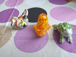 3 db Murano állatok