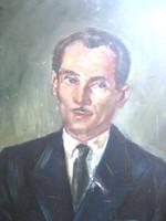 Chován Lóránt, Önarckép, portré olajfestmény...ilyen nincs több