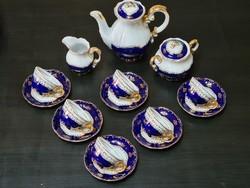 Zsolnay Pompadour I 6 személyes mokkás / kávéskészlet
