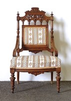 1D130 Antik tornyos faragott ónémet fotel