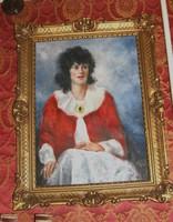 Olaj vászon Art-deco női portré szignózott festmény