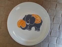 Hibátlan Alföldi elefánt mintás lapostányér 19.5 cm