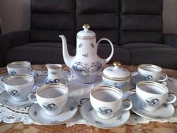 Vadászjelenetes teás , kapucinós készlet