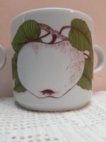 Retro alföldi porcelán bögre gyümölcsös sorozatból