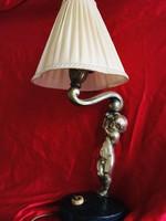 Art deco Akt figurális bronz asztali lámpa kandeláber