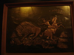 2 db Fali kép.Domború rézötvözetből