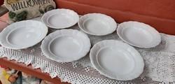 6 db Zsolnay Indamintás mélytányér tányér Paraszti tányér paraszttányér nosztalgia  falusi paraszti