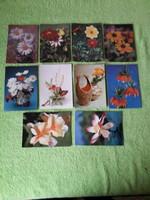 Virágos képeslapok  használt / 60db/
