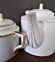 Antik Zsolnay tea/kávé kanna és cukortartó