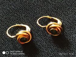 Antik 14k arany button fülbevaló