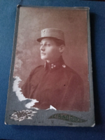 Atos DS-nek ! RITKA ! Antik börtönőr fotó (cabinet - portrait ) Dunaszerdahelyi felvétel 1917-ből