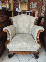 Teljesen felújított epedás füles fotel
