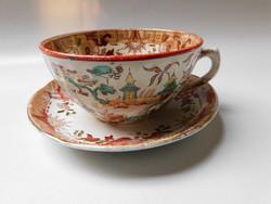 Sarreguemines antik teás szett keleties mintával.
