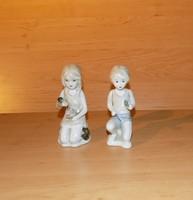 Orosz Verbilki porcelán kislány kisfiú figura pár könyvtámasz 12 cm (po-3)