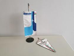 Régi retro Malév reklámtárgy zászló szuvenír reklám