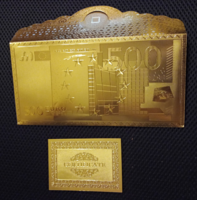 500 eurós bankjegy tartó boríték, arany pénz tartó, pénztárca