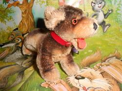 Steiff szalma töltetű kutyus.