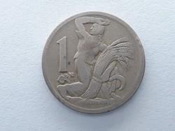 Csehszlovákia 1 Korona 1924 - Csehszlovák 1 koruna érme