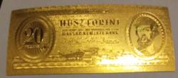 24 kt arany húsz forintos bankjegy exclusív ajándék