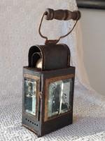 Antik gyertyás vasutas/ bakter lámpa