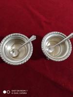 Ezüst fűszertartó páros (2db 800-as ezüst kiskanállal)