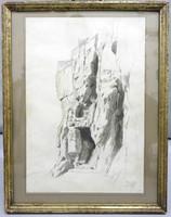 Sziklabarlang -tusrajz Manger jelzéssel -1890 (5036)