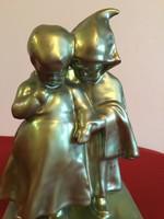 Antik Zsolnay Jancsi és Juliska figura