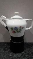 Hollóházi Porcelán kávéfőző Hortenzia mintával