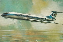 Retro képeslap, TU-134-es utasszállító repülőgép