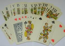 Antik, nagy méretű tarot vető kártya, jóskártya pakli JÁTÉKKÁRTYAGYÁR ÉS NYOMDA BUDAPEST