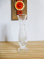 Csodaszép,csiszolt ajkai ólomkristály karcsú váza